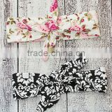 Best Selling Two Pieces Headband Set For Little Girl Fancy Floral Tie Headband Set Adorable children Ornament NP-A-HA905-26