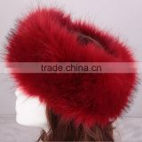 Special imitation fur hat Europe and the United States popular head sets imitation fox fur head fur fur hat ring hat