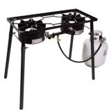 Double burner propane camping stove