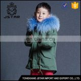 Newest selling super quality baby parka jacket wholesale kid fur jacket