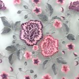 Factory direct Blossom Embroidered Bridal Tulle Lace Fabric for dress