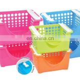 mutil-function storage plastic stacking baskets