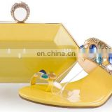 hiah quanlity gold matching shoe and bag set to mach women