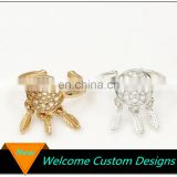 New Arrived Leaves Open Hollow Out Alloy ring dream catcher ring