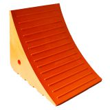 Wheel chocks for light and heavy duty applications Urethane Wheel Chocks for Trucks and Trailers Orange Yellow