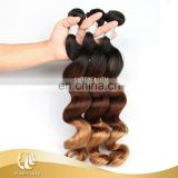 Wholesale Three Tone Ombre Brazilian Hair Weave Wet And Wavy For Women