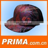 new style colorful design Fashion sublimation print Hip pop flat cap and hat
