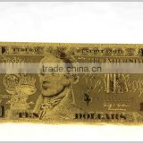 24k colorful gold foil Swiss Kronor 50 Dollar banknotes , sliver plated for business gifts