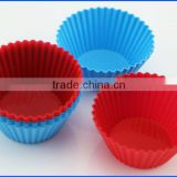 Round Non-stick Reusable Cupcake Liners Color Baking Cups