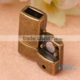 Wholesale Antique Bronze Wide Magnetic Clasps For Brazilian Bracelets Jewelry Making Small MOQ