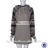 OEM cotton hoodie custom spring custom striped hoodie fashion women cotton hoodie custom