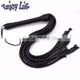 CW001 Black pvc leather whip adult games for couples Cosplay Game Couple Role Play Sex Toys sex products