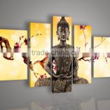 Yellow Skilled Artist Hand-painted High Quality Buddha Oil Painting On Canvas India Buddhism Oil Painting For Wall Decor