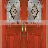 solid wood double entry door