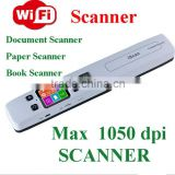 1050DPI A4 WIFI Portable Handy Document Book Scanner Iscan Wifi Handy Scanner