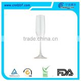Pass fda bpa free party supply 160ml disposable glass plastic champagne flute                                                                         Quality Choice