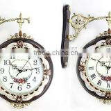 designer home decor double sided wall clock wall mounted clock                                                                         Quality Choice