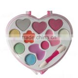 Heart shape multi-color beauty personal care kid use 4 color eyshadow with your own label