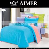 trade assurance 65%Polyester 35% cotton 45x45/ 110x 76 dyed/ solid fitted fabric for bed sheet