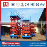 Weihua Customized 20m Lifting Electric Manual Scissor Lift Platform                                                                         Quality Choice