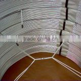 ASTM A254-1997 copper coated double wall welding steel pipe/bundy pipes/galvanized steel pipe price