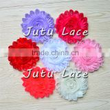 Fashion Costume Decoration Flower/ 4 inch sabby rose trim flower/hair accessories