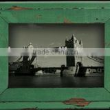 French country style distressed wood green picture photo frame                                                                         Quality Choice