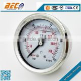 (YTN-60D) 60mm sus case with brass connection oil liquid filling low pressure dial style cvp manometer