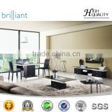 2013 indoor elegant fashion leisurely black living room furniture set