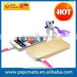 9000mAh Large Capacity Power Bank USB External Battery Lithium-polymer Battery Pack Charger with Phone Design--Golden