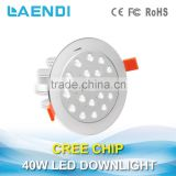 Professional Jewelry lighting Ra>82 High efficiency 40W led downlight widely used in shopping mall