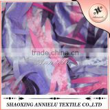 Fancy three color taffeta embroidered fabric wholesale