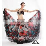 alibaba china belly dance bohemia billowing skirts long black chiffon skirts