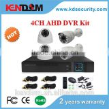 Kendom KD-AK4070DB-AH Wholesales DIY Full HD 720P CCTV Camera AHD 4CH Bullet and Dome DVR Kit Security for Outdoor and Indoor