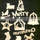 Christmas tree decoration/ornament(wooden crafts/wood gift/wood art in laser-cutting & engraving)