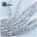 Machine Cut crystal faceted rondelle beads polished faceted electroplating beads in bulk                                                                                                         Supplier's Choice