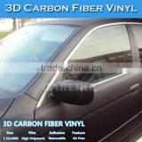 CARLIKE Top Quality Air Free 3M Black 3D Carbon Fiber Vinyl Car Wrap Foil