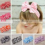 Fancy ebay aliexpress hot sale streak bow hair headband baby girl headbands