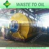 Low sulfur content scrap plastic to oil pyrolysis machine