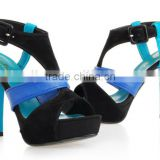 fashionable and casual shoes and bags in italy Summer hotter wedges girls latest high heel sandals