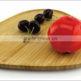Round bamboo tray/Round tray with handle/Bamboo oval serving tray/Bamboo tray