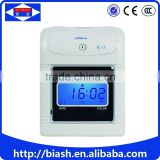 punch card electronic time clock/electronic punch card time clock machine