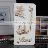 3D crystal swan Bling bling wholesale cell phone case and custom 5 and 5.5 inch mobile phone case