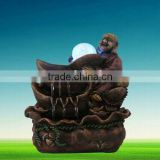 Brown buddha fountain/buddha ornament/resin ornament