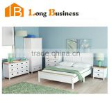 Zhejiang China Quality products Solid Wood Modern white Bedroom Furniture / Bedroom Sets