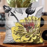 2015 new design vivid flower pattern jacquard handmade embroidery cushion cover