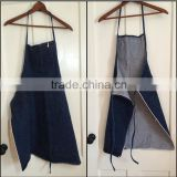 heavy duty denim work apron for women