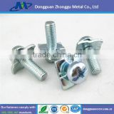 INquiry about Sems Screw/high quality sems screw with square washer/Sems Screws White Zinc Plate with RoHS