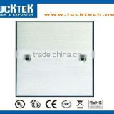 aluminum blank faceplate mounted wall plate, silver