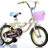 14-Inch Bicycle Children Learn Bicycle Child Princess Baby Bike Steel Bike For Ages 3-6 Years Old Beige toys Children